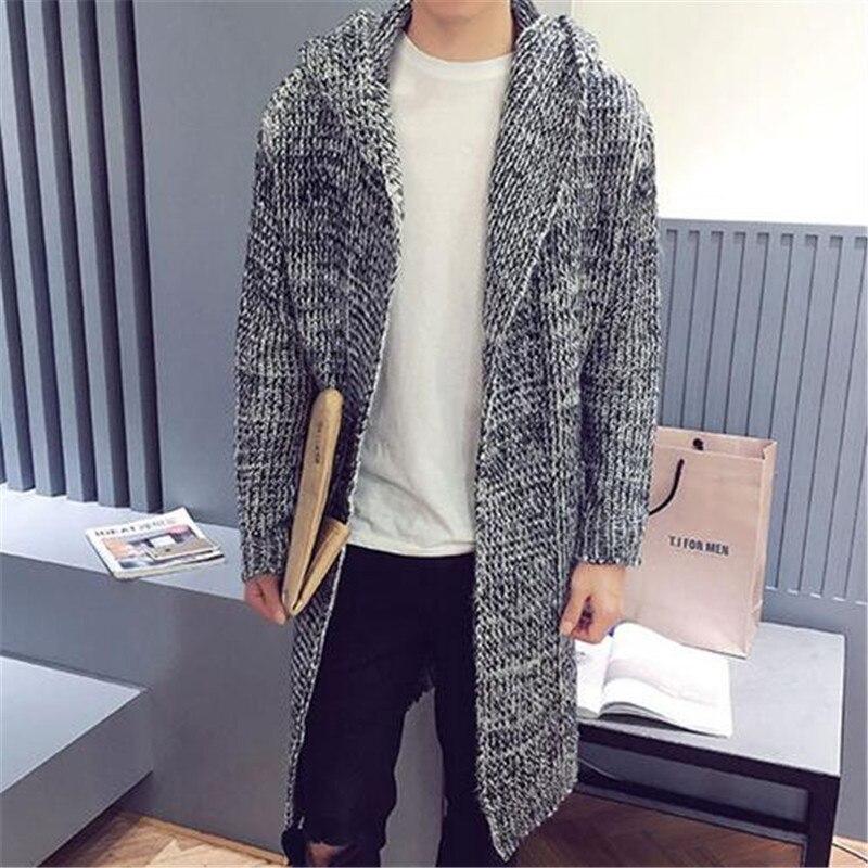 2017 New Arrival Long Sweater Coat Korean Fashion Cardigan Men ...
