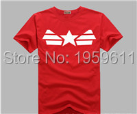 100% Cotton Top Quality t shirt Captain America Cotton Casual t shirt For Man shirt men tops tee