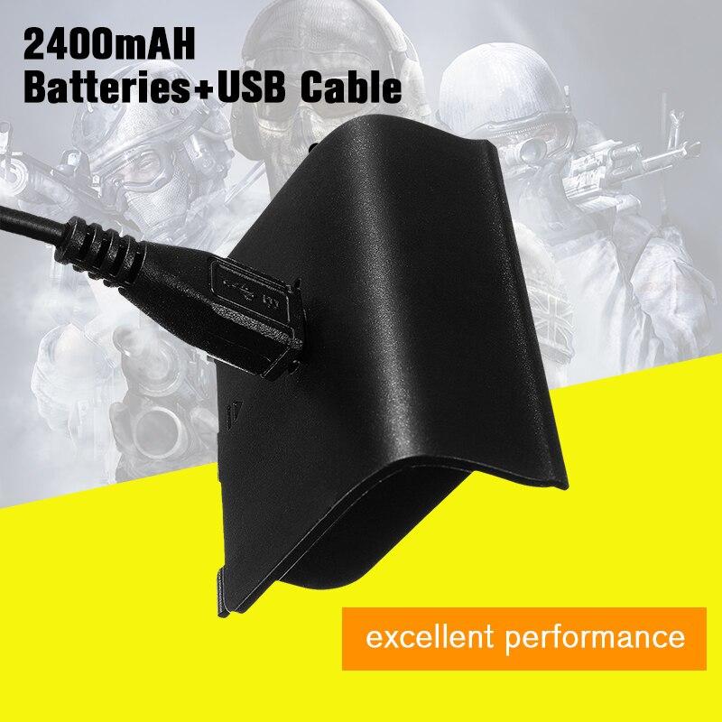 4 Pcs 2400 mAH Akkus Pack Ersatz Backup Mit Power Plus Kabel Für XBOX One Wireless Gamepads Ladegerät