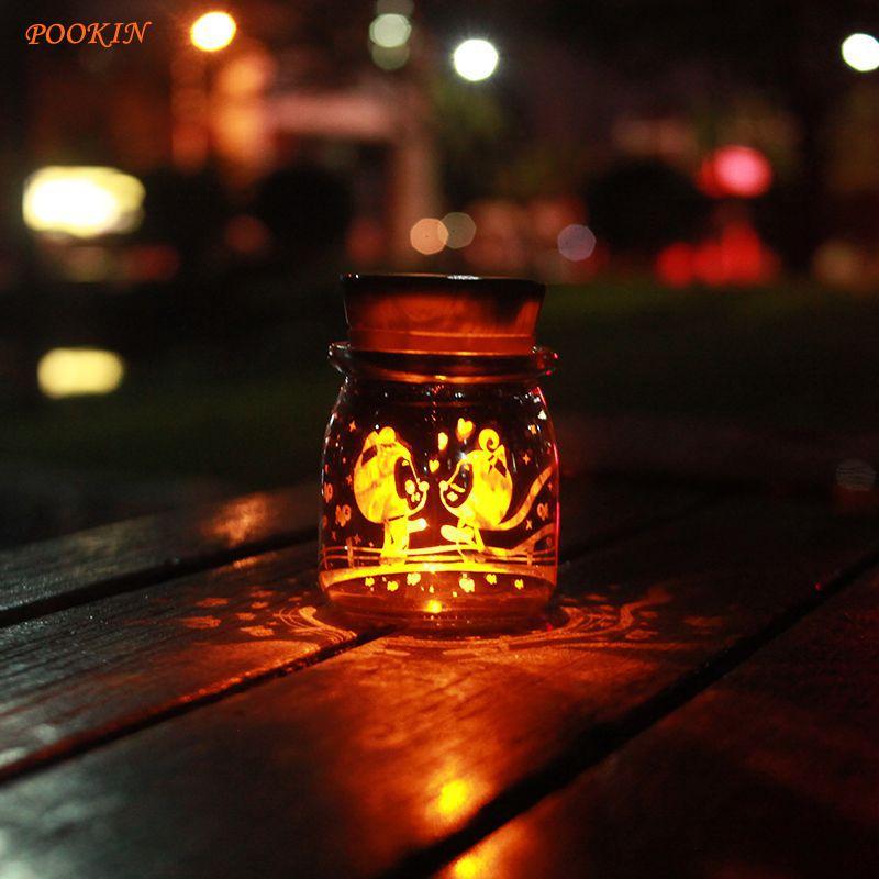 Solar Sun Jar Colorful and Golden Lights Solar Powered Home Bedroom Decors Children Present