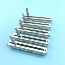 5 peças 60mm para pioneer djm, 350 600 700 800 empurrar fader reto potenciômetro deslizamento dj mixer b10kx2