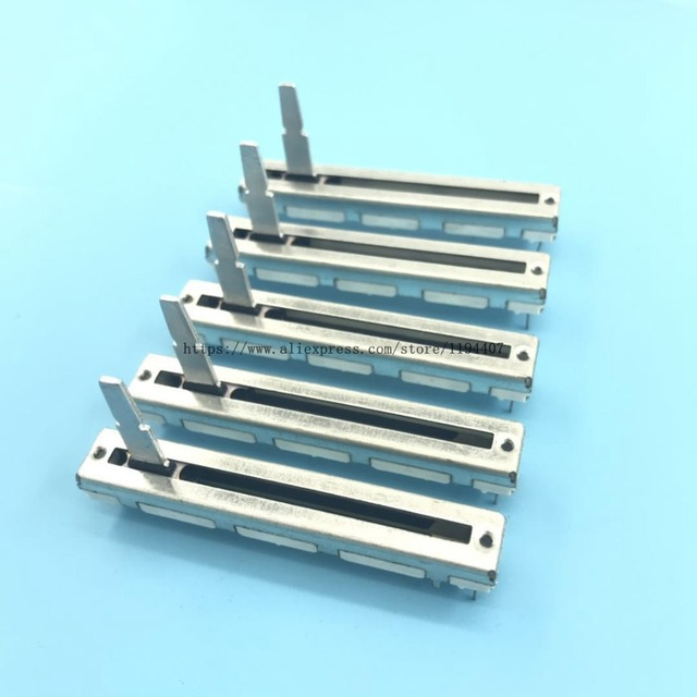5pcs 60mm for Pioneer DJM 350 600 700 800 Push Fader Straight Slide Potentiometer DJ MIXER B10Kx2
