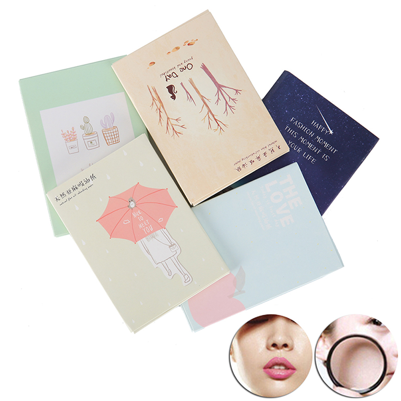 50pcs/pack Facial Oil Absorbing Papers Blotting Sheets Shrink Pores Oil Control Mattifying Facial Tissues Care Tool For Women