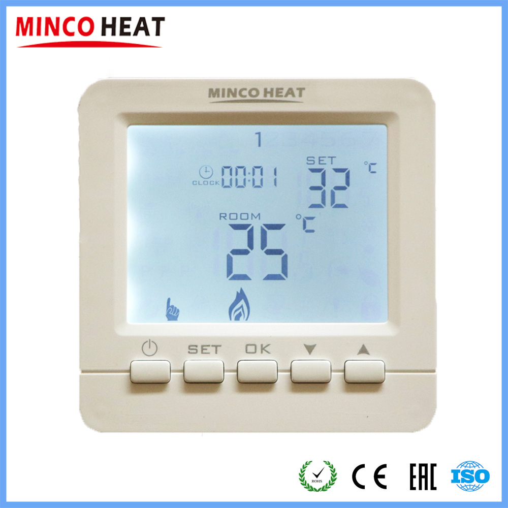 Digital Temperature Controller 16A Electric Heating 3A Water Heating Room Thermostat
