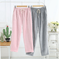 2018 Mens Lounge Pants Women and Men Sleep Bottom Winter Flannel Pants for Couples Night Sleeping Pants