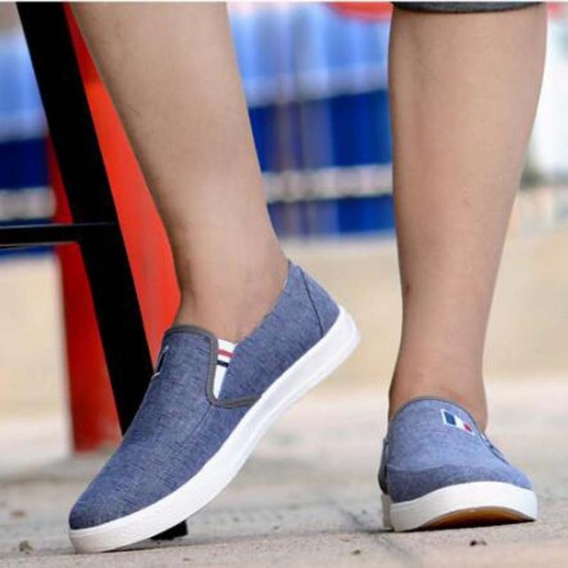 AGUTZM New Arrival Slipony Men Fashion Men Sneakers Flats Casual Shoes Denim Canvas Shoes Nice Comfortable Men Shoes Loafer Q7