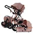 Carrinho De bebê 3 em 1 com Assento de Carro Para Recém-nascidos alta Vista Carrinho De Bebê Dobrável Carrinho de Bebê 2 em 1 Travel sistema