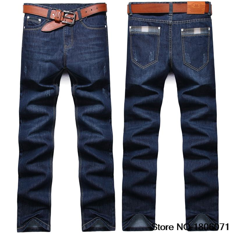 Fashion Mens Jeans Brand Solid Robin Denim Men Casual Designer Pants Blue Color Straight Homme CK01