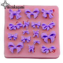 1pcs UV Resin Jewelry Liquid Silicone Mold Bow Resin Charms Pendant Molds For DIY Decorate Jewelry Making