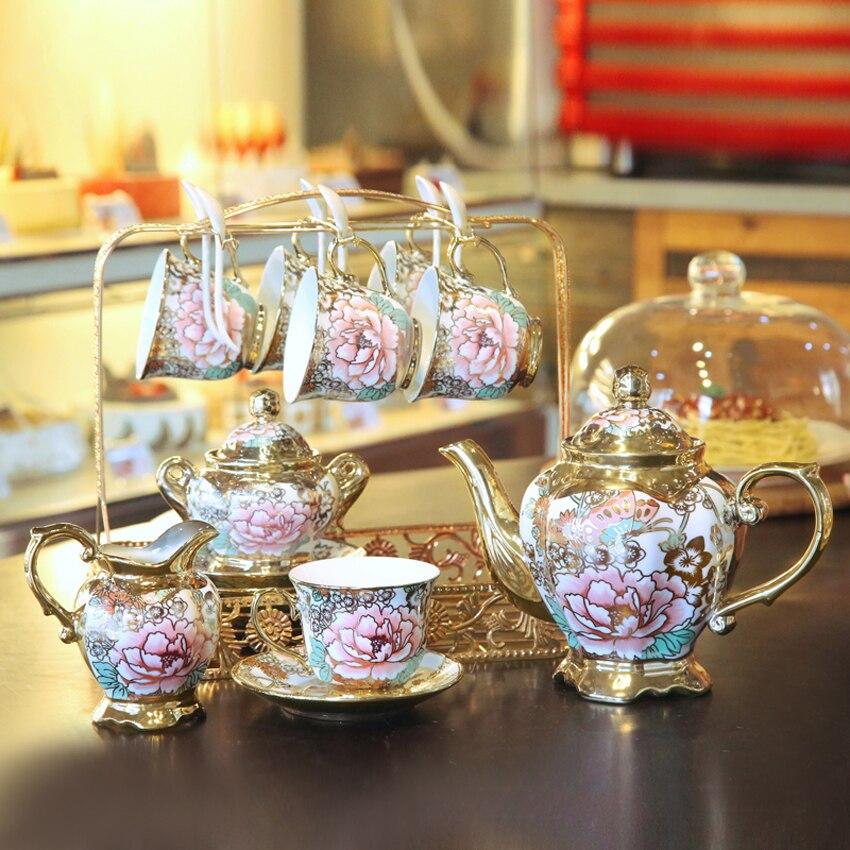 High grade kaffee tasse set Britischen Porzellan Tee Set keramik kaffee becher tasse komplette set von Europäischen knochen china nachmittag tee set-in Kaffeezubehör-Sets aus Heim und Garten bei AliExpress - 11.11_Doppel-11Tag der Singles 1
