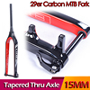 2017 Full Carbon Fork 3K 29er MTB For Mountain Bike Fork Brand BXT Tapered Thru Axle