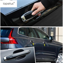 Lapetus Accessories Fit For VOLVO XC60 2018 2019 Outside Auto Door Pull Doorknob Handle Molding Cover Kit Trim / Chrome Bright
