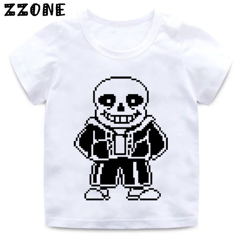 Girls and Boys Skull Brother Undertale Print Funny T shirt Kids - Children's Clothing - Photo 5