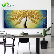 Tree Of Life Oil Paintings Canvas Palette knife Painting Art Hand Painted Wall Decoraction Picture For Bedroom Unframed