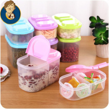 two size two grid seal pot food kitchen receive a case multi-function fresh-keeping box contained store content box