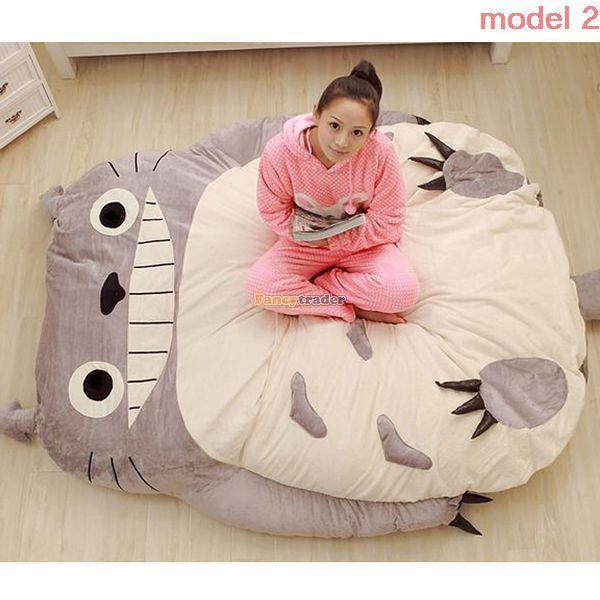 Fancytrader 230cm X 180cm Giant Biggest Plush Totoro Bed Carpet Tatami Mattress Sofa, 2 Models Available!Free Shipping FT50326