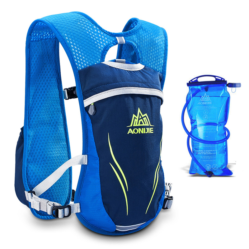 Aonijie 5.5l Men Women Trail Running Hydration Backpack Sport Hiking Racing Cycling Camping Marathon Rucksack 1.5l Water Bag Various Styles