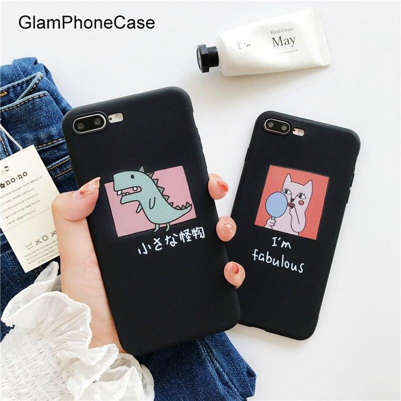 GlamPhoneCase Graffiti Dinosaurier Katze Telefonkasten für iPhone X 8 8 PLUS weichen Tpu Rückseitige Abdeckung Fall für Apple iphone 6 6 plus 6 S 6 Splus
