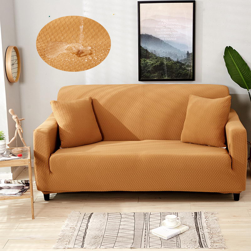 Superb Us 40 66 31 Off Waterproof And Oil Proof Anti Pet Sofa Cover Couch Covers Solid Color Stretch Furniture Protector Slipcover Sectional Home Decor In Spiritservingveterans Wood Chair Design Ideas Spiritservingveteransorg
