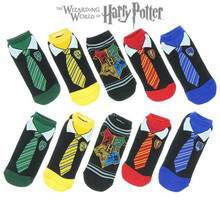 Funny Adult Men Women Cotton Ankle Socks Harry Potter Amine Cosplay Tie Pattern Gryffindor Slytherin Hufflepuff Ravenclaw Socks
