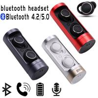 New Bluetooth 5.0/Bluetooth 4.2 TWS Earphone Dual Ear Wireless 2018 Hot Style With Charge Bay Bluetooth Headset Ear Hook