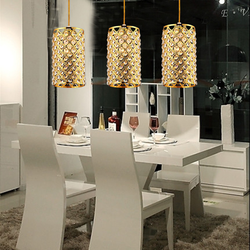 Luxury Living Room Dining Bedroom Lamps K9 led Crystal Chandelier E27 Energy Saving Pendant Modern Times Plated luminaireLuxury Living Room Dining Bedroom Lamps K9 led Crystal Chandelier E27 Energy Saving Pendant Modern Times Plated luminaire