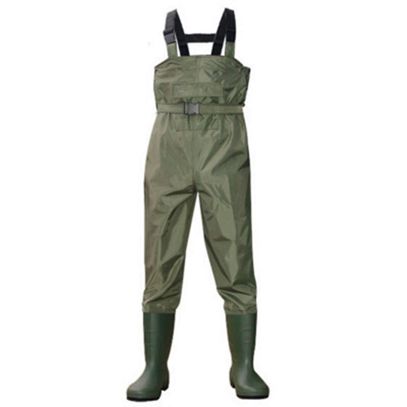 High Jump Camouflage Fishing Clothing Waterproof Nylon+PVC Fabric Breathable Waist Height and Belt+Pocket Fishing Waders Overall-in Fishing Clothings from Sports & Entertainment    2