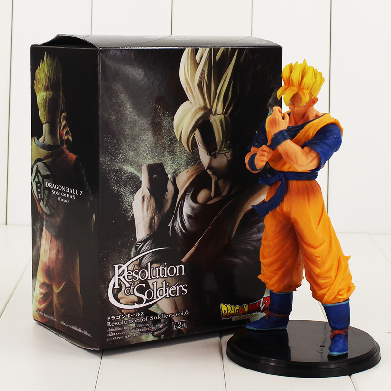 19.5cm Son Gohan Figure Model Toy Resolution of Soldiers vol.6 Dragon Ball Z Super Saiyan Hot Japanese Anime Action Figure Model free shipping super big size 12 super mario with star action figure display collection model toy