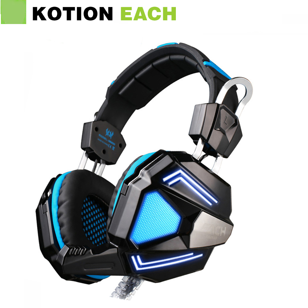 ФОТО EACH G5200 7.1 Surround Sound Game Headphone Computer Gaming Headset Headband Vibration with Mic Stereo Bass Breathing LED Light