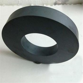 Zion 1 pcs dia80x15 มม. hole40mm แหวนเฟอร์ไรต์แม่เหล็ก Y30 ferrite แม่เหล็ก 80*15-40 มม. extreme ทำงานอุณหภูมิ 250 องศาเซลเซียส