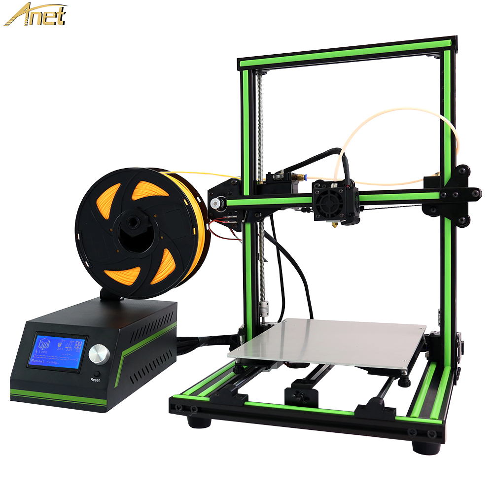 Anet E10 Desktop Prusa i3 3D Printer Kits DIY Reprap 3d Printer High Precision LCD12864 Impressora Reprap with Power Control Box reprap prusa mendel diy 3d printer robot main control chip atmega1284p au black