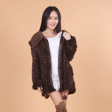 New Winter Real Mink Fur Coat Natural For Women Fashion Knitted Genuine Mink Outercoat Luxury Mink Fur Outerwear 20140826-2x