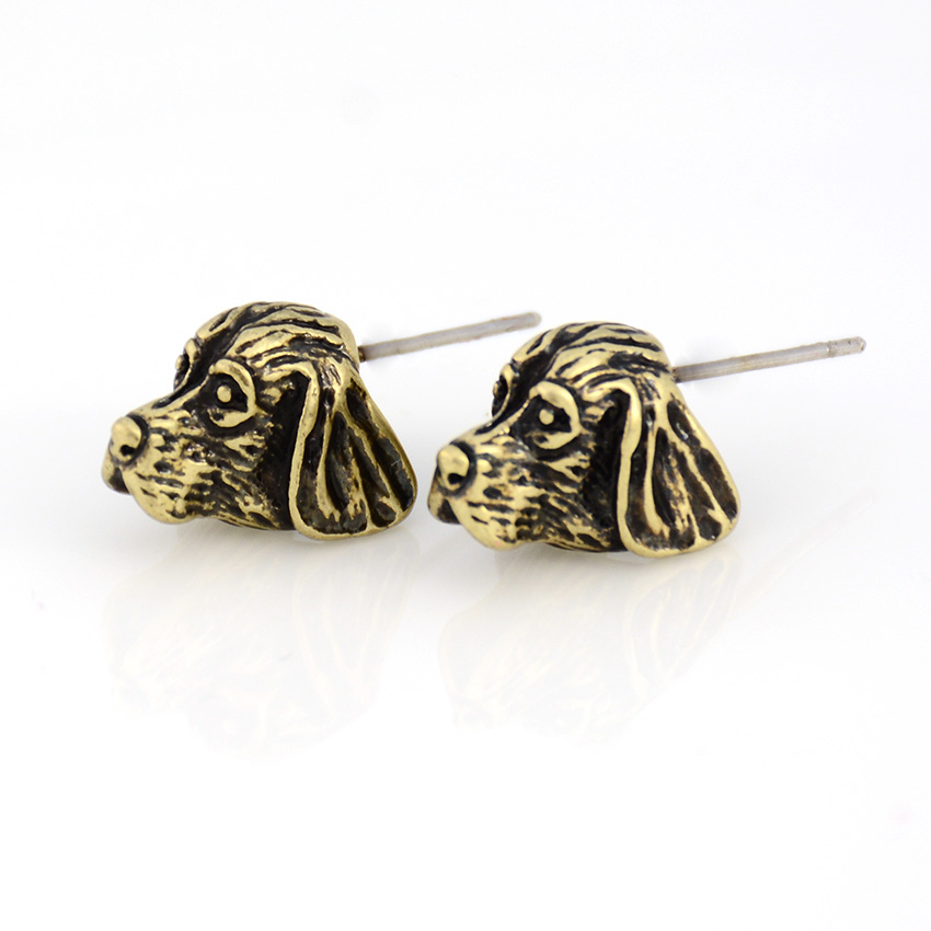 Vintage Basset Hound & Bloodhound Dog Stud Earring Punk Dogs Love Earrings For Women Jewelry Christmas Gift Black Friday Deals