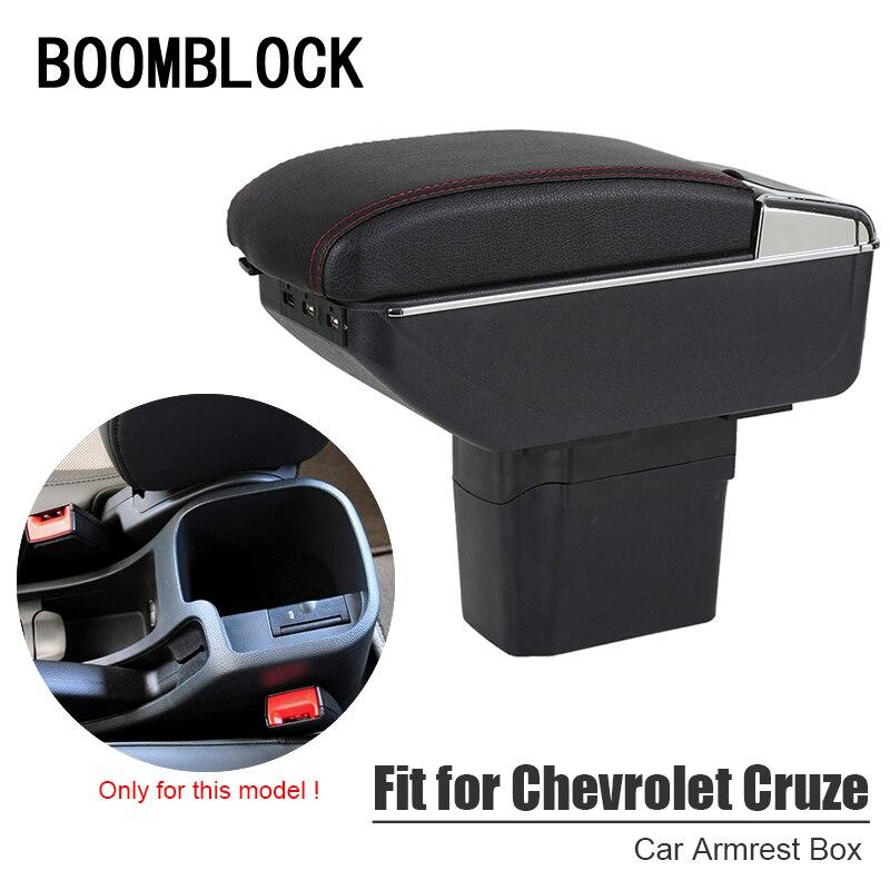 Boîte d'accoudoir de voiture automatique modifiée pour Chevrolet Cruze 2009-2014 Chevy USB support de verre cendrier organisateurs accessoires