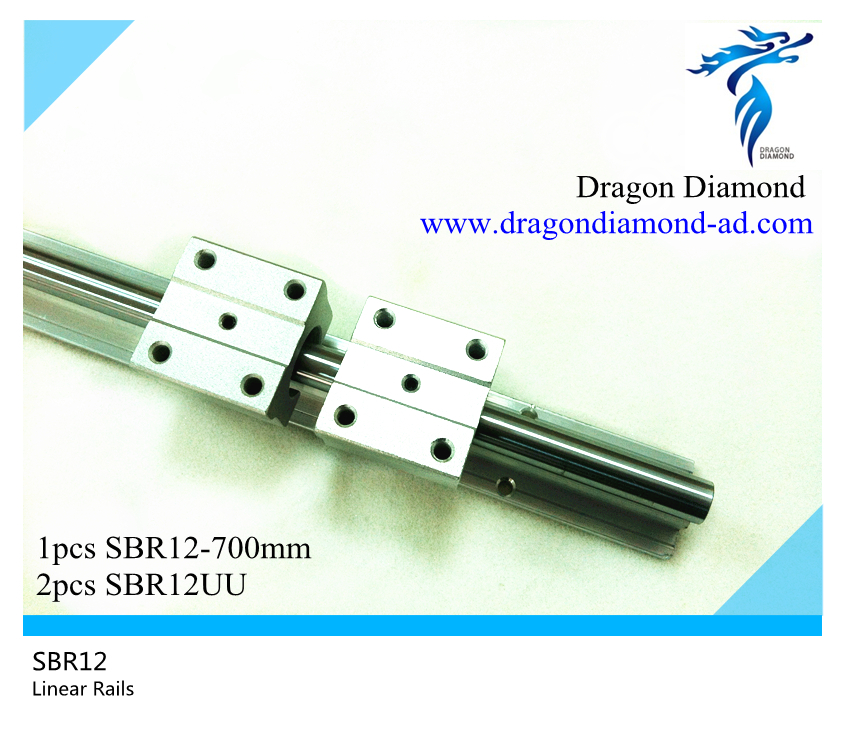 ФОТО High quality 1pcs linear rails shaft support SBR12 -700mm rails+2pcs SBR12UU For CNC DIY