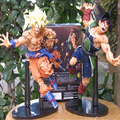 2pcs/lot Dragon Ball Z Scultures BIG Resurrection Of F Styling God Super Saiyan Son Goku/Burdock PVC Action Figures Toys 22cm