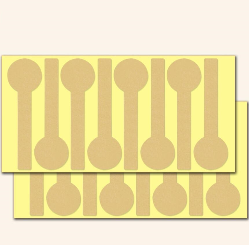 40pcs/lot Vintage Blank Long Lollipop Design Kraft Paper Sticker For Handmade Products Baking Gift Seal Sticker Label