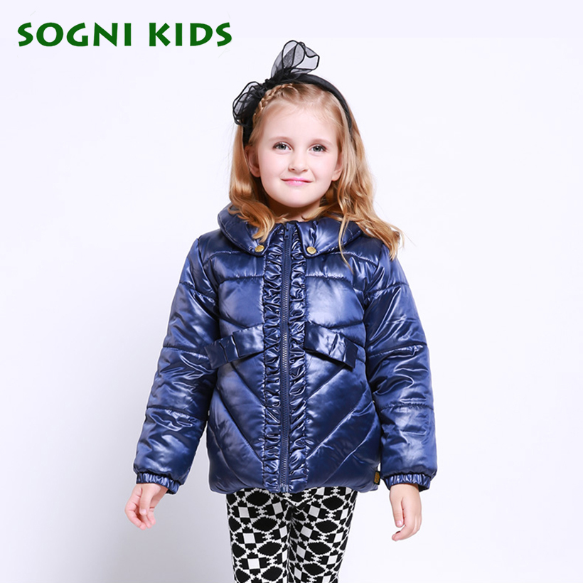 SOGNI KIDS Solid Girl Zipper Jackets Toddler Girl Turndown Collar Winter Coats Baby Autumn Jacket Kinderkleding