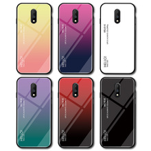 For Oneplus 7 Cover UYFRATE Slim Gradient Phone Case Smooth Tempered Glass Funda For Oneplus 7 7 Pro OnePlus 6T 6 One Plus 5T 5