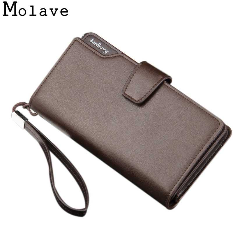 MOLAVE wallet Mens PU Leather ID Multi-card-holder Billfold Zip Purse Clutch high quality 2017 wallet men slim dec19