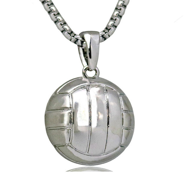 3d sporty necklace volleyball pendant with stainless steel snake 3d sporty necklace volleyball pendant with stainless steel snake chain necklace rhodium plated men sport ball mozeypictures Choice Image