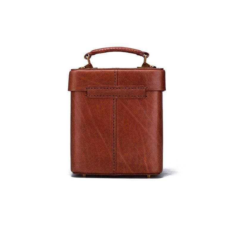 Rindsleder Stereotypen Retro Erste Schicht Frauen Brown Persönlichkeit Messenger Original Schulter Leder Harte Handtaschen Tasche Einfache vwXqZd1n