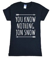 Hot Sale Game Of Thrones T Shirt Women 2016 Summer YOU KNOW NOTHING JON SNOW Print