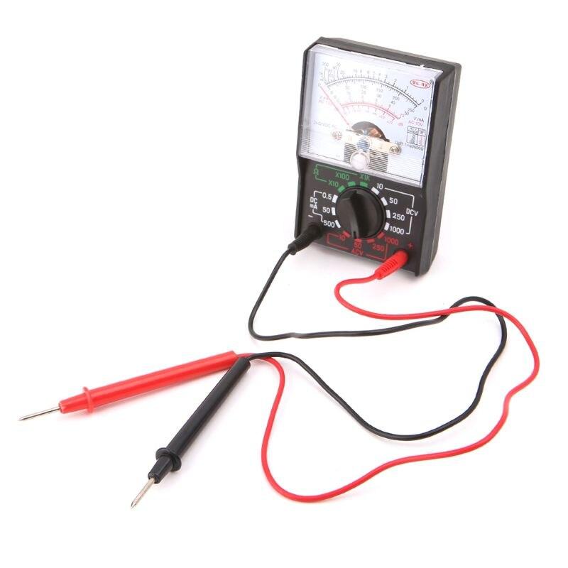 DC/AC 1000V Voltmeter 250mA Ammeter 1K Resistance Meter Analog Multimeter Tool