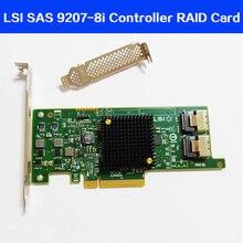 Tarjeta RAID de alta calidad LSI SAS 9217 8i 9207 8i HBA SFF8087 mini sas HD 6Gb PCI E 3,0 X8 SAS