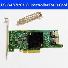 Yüksek kaliteli LSI SAS 9217 8i 9207 8i HBA SFF8087 mini sas HD 6Gb PCI E 3.0 X8 SAS denetleyici RAID kart