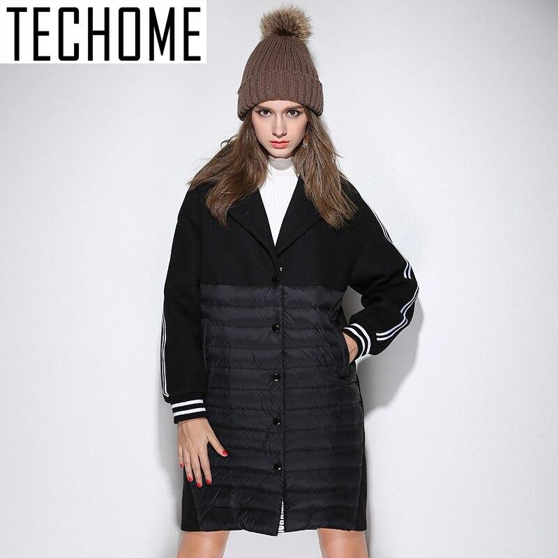 TECHOME 2016 Winter Wool Coat Women New Design Women Wool ...