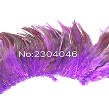5-6 inches high (12-14CM) feather dyed purple decoration process, Feather 800-900 Root