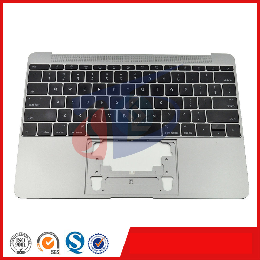 2016 an A1534 pour Macbook Retina A1534 gris Palmrest US USA amérique clavier top case couverture avec rétro-éclairage sans pavé tactile