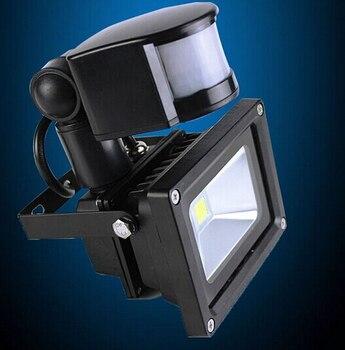 Sensor de movimento PIR luz de inundação 10 W holofote jardim ao ar livre lâmpada branco / branco quente AC 85 - 265 V